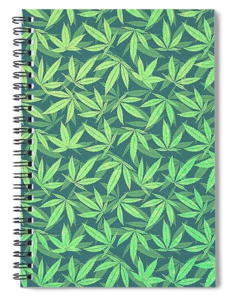 Cannabis   Hemp  420   Marijuana  Pattern Spiral Notebook