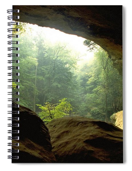 Cave Entrance In Ohio Spiral Notebook