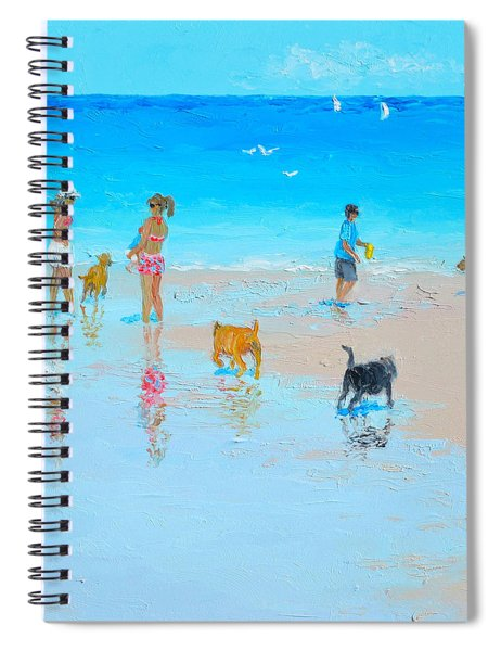 Dog Beach Day Spiral Notebook