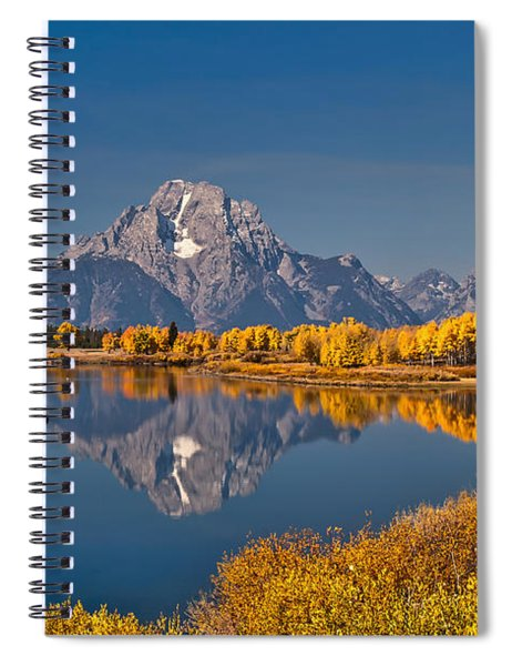 Fall Colors At Oxbow Bend In Grand Teton National Park Spiral Notebook