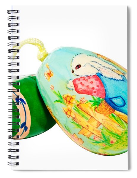 Hand Painted Easter Eggs Spiral Notebook