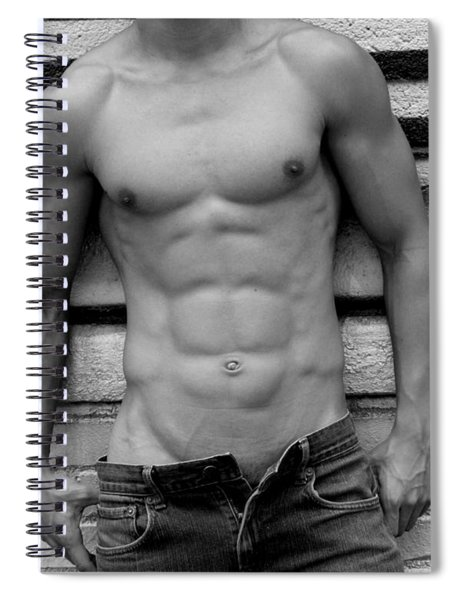 Male Abs Spiral Notebook