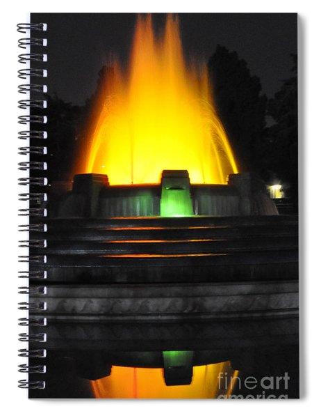 Mulholland Fountain Reflection Spiral Notebook
