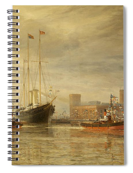 Opening Of The Royal Edward Dock, Avonmouth Spiral Notebook