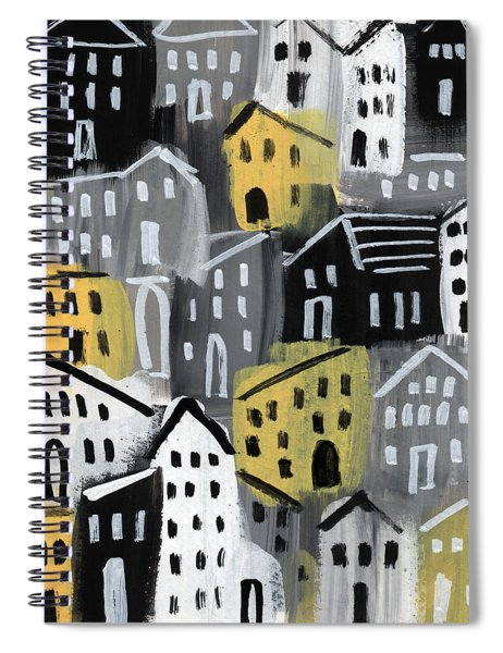 Rainy Day - Expressionist Art Spiral Notebook