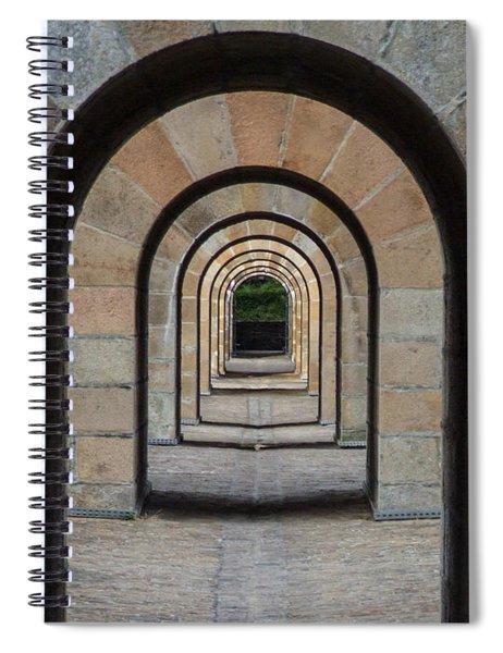 Receding Arches Spiral Notebook