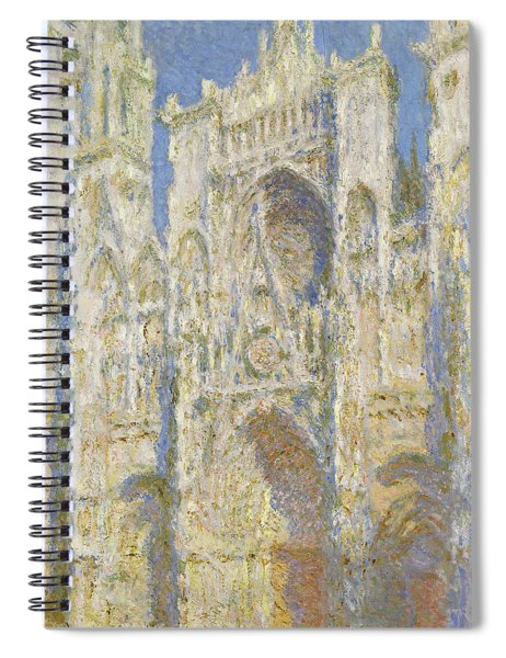 Rouen Cathedral West Facade Sunlight Spiral Notebook