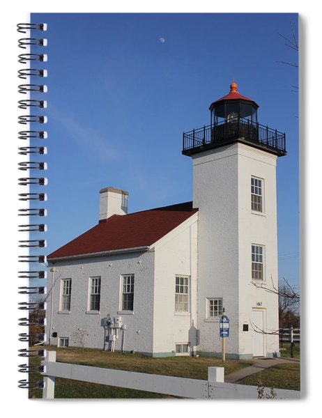 Sand Point Lighthouse Escanaba Spiral Notebook