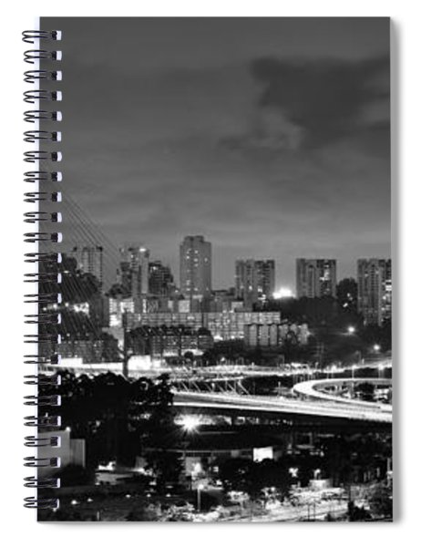 Sao Paulo Iconic Skyline - Cable-stayed Bridge - Ponte Estaiada Spiral Notebook