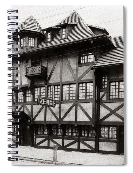 Scranton Pa Zenke's Alt Heidelberg Restaurant Early 1900s Spiral Notebook