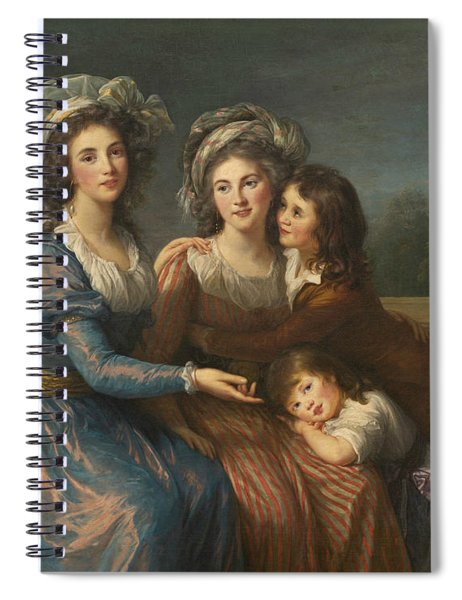 The Marquise De Pezay, And The Marquise De Rouge With Her Sons Spiral Notebook