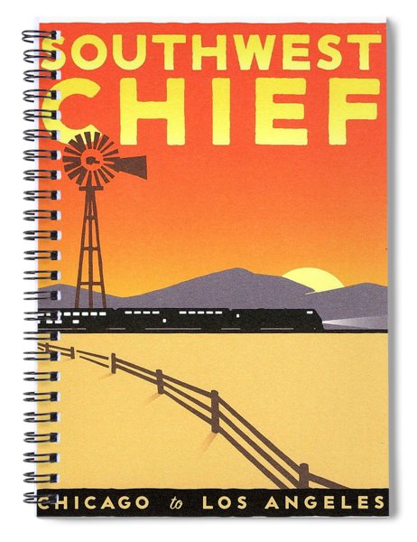 Vintage Poster - Southwest Chief Spiral Notebook