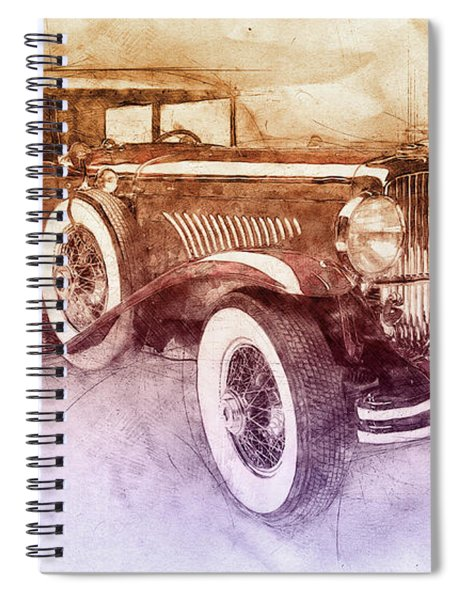1928 Duesenberg Model J 2 - Automotive Art - Car Posters Spiral Notebook