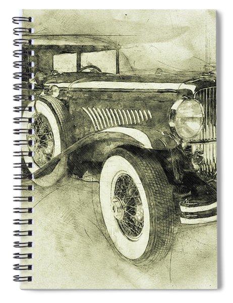 1928 Duesenberg Model J 3 - Automotive Art - Car Posters Spiral Notebook