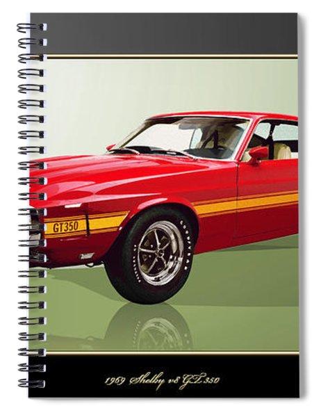 1969 Shelby V8 Gt350  Spiral Notebook