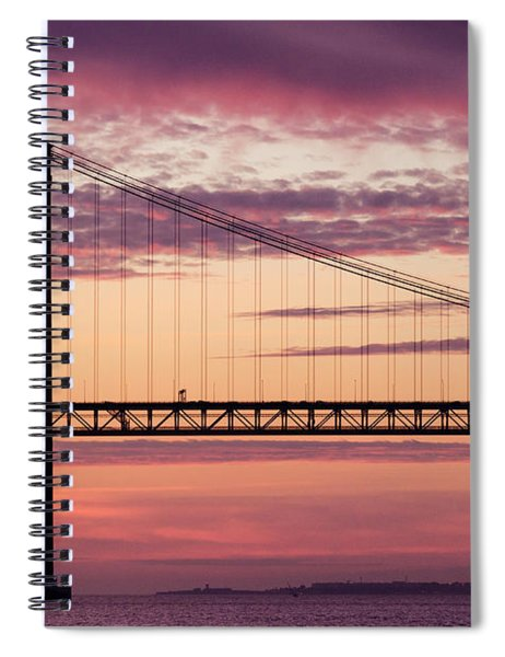 25 De Abril Bridge In Lisbon. Spiral Notebook