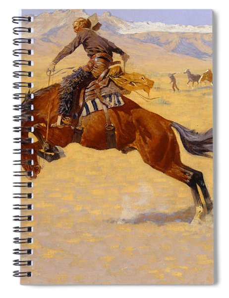 A Cold Morning On The Range Spiral Notebook