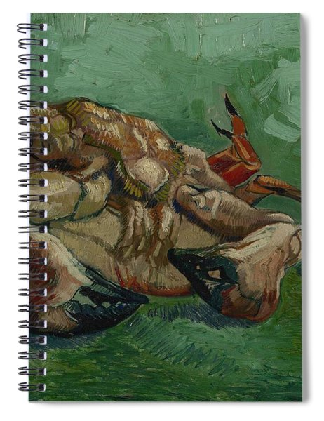 A Crab On Its Back Paris, August-september 1887 Vincent Van Gogh 1853 - 1890 Spiral Notebook