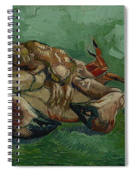A Crab On Its Back Paris, August-september 1887 Vincent Van Gogh 1853 - 1890 Spiral Notebook