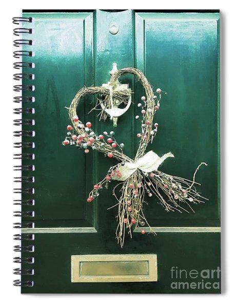 A Door Wreath Spiral Notebook