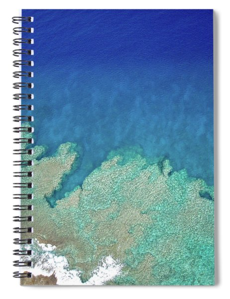 Abstract Aerial Reef Spiral Notebook