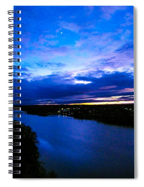 Aerial View Over Catawba River In Gaston County North Carolina Spiral Notebook