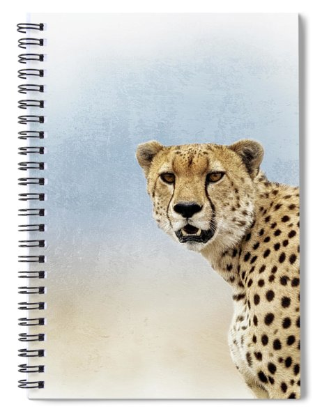 African Elephant Closeup Square Spiral Notebook