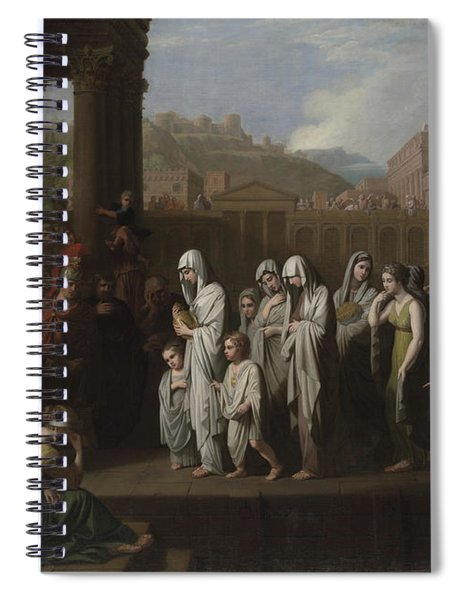 Agrippina Landing At Brundisium With The Ashes Of Germanicus Spiral Notebook