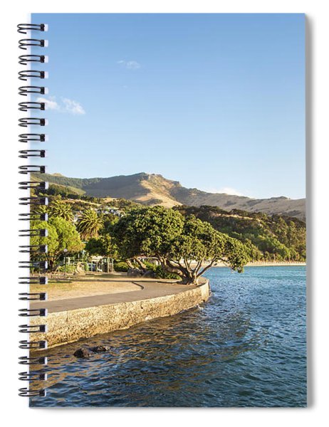 Akaroa Village In The Banks Peninsula In New Zealand Spiral Notebook