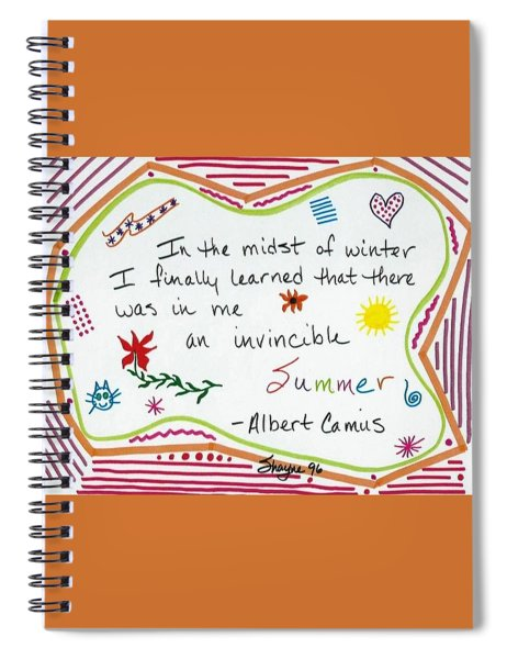 Albert Camus Doodle Quote Spiral Notebook