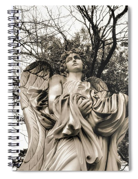 Angel In The Fall Spiral Notebook
