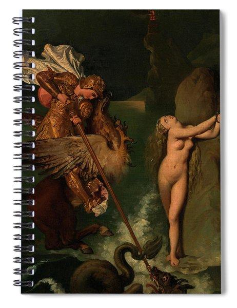 Angelica Saved By Ruggiero Spiral Notebook
