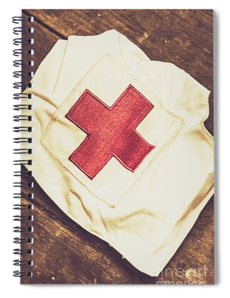 Antique Nurses Hat With Red Cross Emblem Spiral Notebook