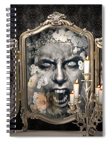 Antique Vampire Paintings Spiral Notebook