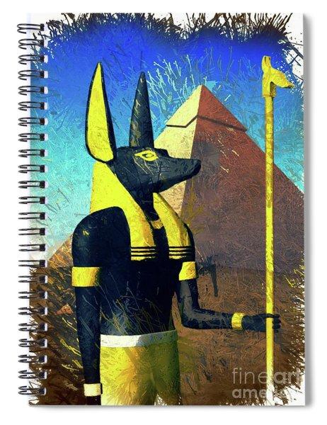 Anubis, God Of Egypt Spiral Notebook