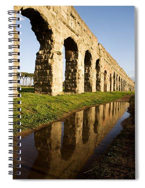 Aqua Claudia Aqueduct Spiral Notebook