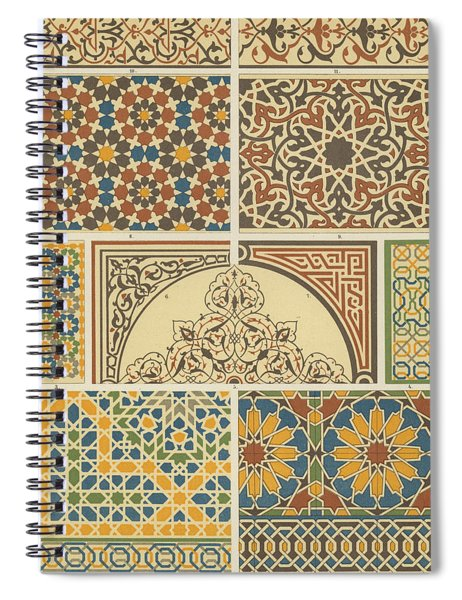 Arabian-moresque, Mosaic Textile Pattern Spiral Notebook