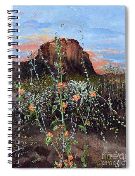 Arizona Desert Flowers-dwarf Indian Mallow Spiral Notebook