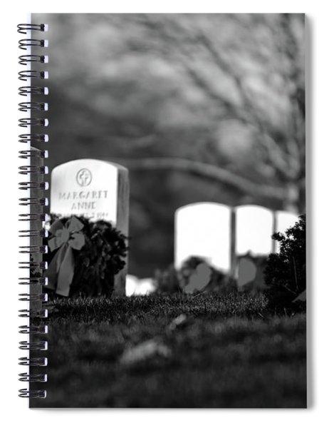 Arlington National Cemetery At Christmas Spiral Notebook
