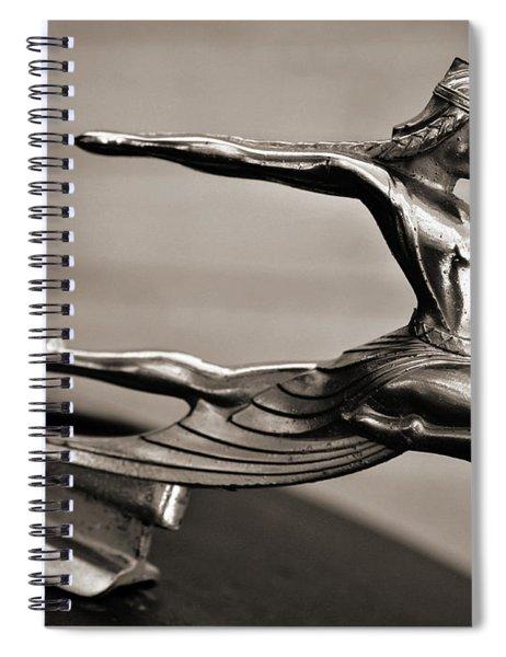 Art Deco Hood Ornament Spiral Notebook