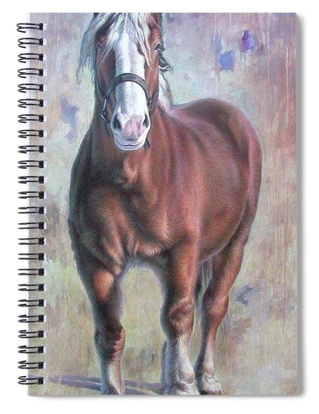 Arthur The Belgian Horse Spiral Notebook