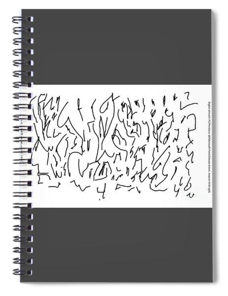 Asemic Writing 01 Spiral Notebook