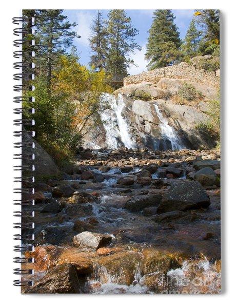 Autumn At Helen Hunt Falls Colorado Spiral Notebook