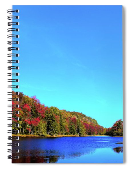 Autumn At The Pond Spiral Notebook