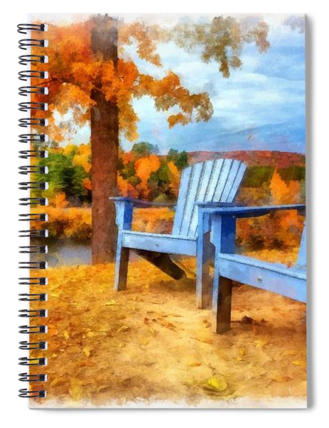Autumn Splendor Watercolor Spiral Notebook