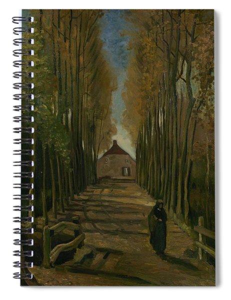 Avenue Of Poplars In Autumn Nuenen, October 1884 Vincent Van Gogh 1853 - 1890 Spiral Notebook