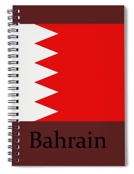 Bahrain Flag Spiral Notebook