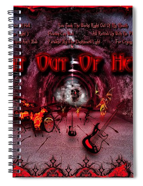 Bat Out Of Hell Spiral Notebook