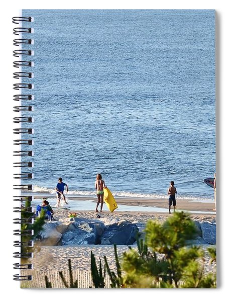 Beach Fun At Cape Henlopen Spiral Notebook