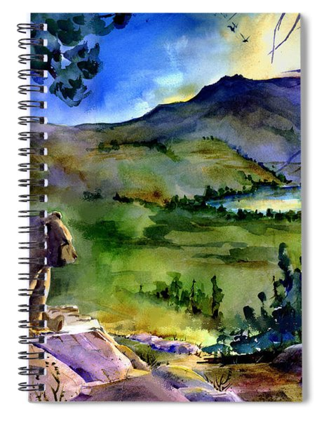 Bearly Light At Castle Peak Spiral Notebook